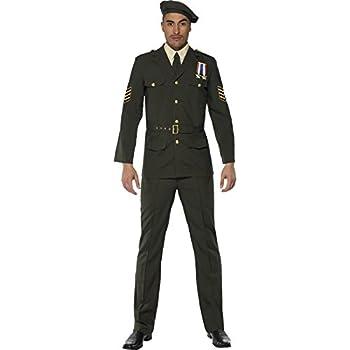 Smiffys-35334L Miffy Oficial de Guerra, Gorra, Corbata, Pantalones ...