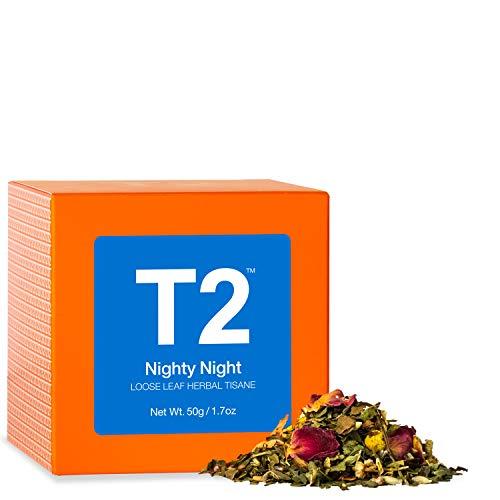 T2 Tea - Nighty Night Herbal Tea, Loose Leaf Herbal Tisane in Gift Cube, 50g, 1.7oz