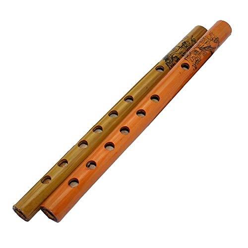 Zubehör Holzblasinstrumente Xiao Flöte Natur Fischschuppen Bambus Clarionet Spielzeug for Kinder Musikinstrument Zubehör Geschenk (Color : Random Color)