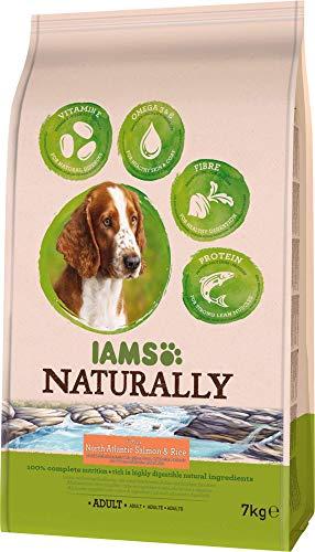 professionnel comparateur IAMS Natural Dry Food 7kg, y compris le saumon de l'Atlantique Nord et le riz pour chien adulte choix