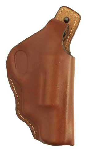 Hunter Company 100% Full Grain American Cow Hide Leather High Ride Holster with Thumb Break for Taurus Public Defender Polymer Frame, Brown