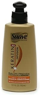 Suave Professionals Keratin Infusion Heat Defense Leave-In Conditioner 5.1 oz (150 mL)