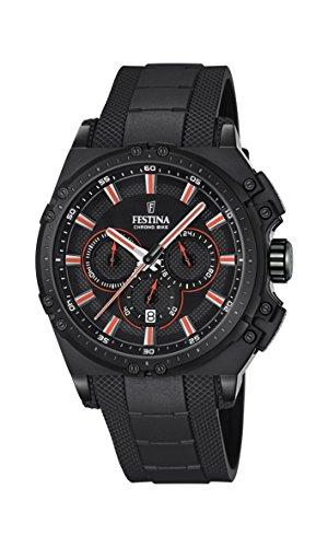 Festina Herren Chronograph Quarz Uhr mit Kautschuk Armband F16971/4