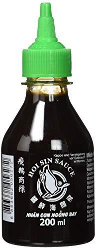 FLYING GOOSE Hoi Sin Sauce - pikant, grüne Kappe, kräftige Würzsauce aus Thailand, 1er Pack (1 x 200 ml)