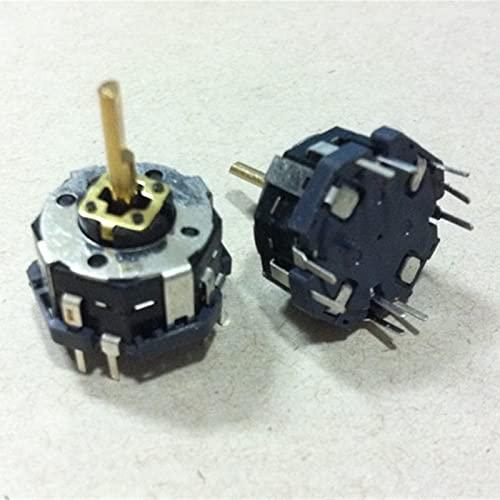 YSJJSQZ Interruptor Giratorio Interruptor de Joystick de múltiples vías con Interruptor de Empuje del codificador rotatorio 15 Número de posicionamiento