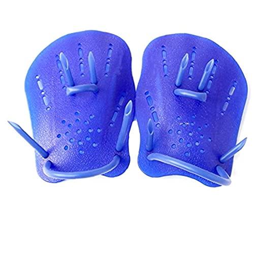 Las paletas de natación fuerza guantes de la mano de formación paletas Swim Eléctricas en adultos principiantes de natación para niños Azul S para el canotaje, kayak, natación, pesca, surf, playa