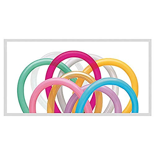 Folat - Qualatex, Palloncini Modellabili 260q, Multicolore, Animatore - 100 pezzi