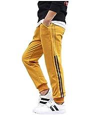 Uayasily Pantalones Elástico De Los Cabritos De Jogging con Cordón Elástico Se Divierte Los Pantalones De Los Niños del Manguito De Ajuste Lento Clásico Pantalón Casual Chándal 120cm