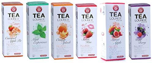 TEEKANNE Tealounge Früchtetee Kapseln, 96 Kapsel - 6 Sorten (6 x 16 Stück) Teekapsel Tee Caps