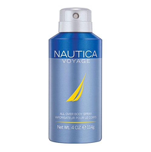 Nautica Voyage Deodorizing Body Spray for Men, 4 oz., Male Body Spray in a Classic, Water & Sailing Inspired Fragrance, A Great Gift