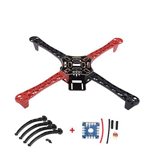 Hermosairis F450 450 Drone Arm Rahmen Radstand mit Fahrwerk Rad Bein 12 V Elektrische Bord Kit für RC 4-Achsen RC Multicopter Quadcopter