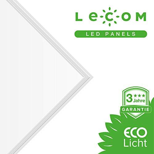 LECOM - LED Panels 120x30 40W Excellente Neutral Weiße 4000K Deckenlampe 3600 Lm. Farbwiedergabeindex CRI90 Ra Garage, Lager, Büro. Zertifiziert. Mit Befestigung.