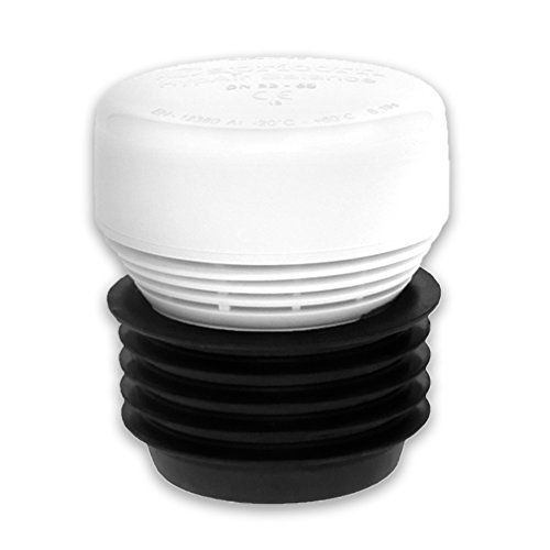 Rohrbelüfter HYPAIR Balance Mini Hab mit Mehrfachanschluss auf DN 32,40,50 und DN 63mm, Durchfluss 7,6 l/s