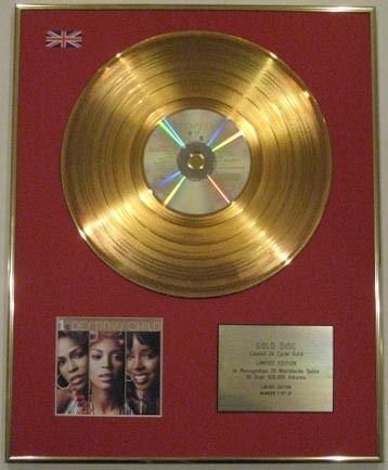 Century Music Awards DESTINY'S Child Ltd Edtn 24 Karat CD Gold