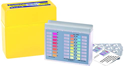 YMBERSA Estuche Analizador Pooltester pH, Peroxido de hidrógeno (H2O2) y PHMB