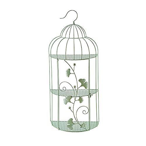 PLHMS Fioriera Tascabile da Parete in Metallo Vintage, Gabbia per Uccelli semicircolare da Appendere a Parete, Cesto di vasi da Fiori, Decorazioni da Parete per Piante, ripiano portaoggetti
