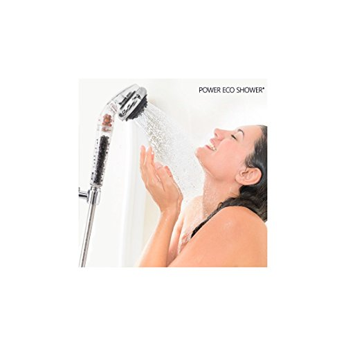 Hasëndad Power Eco Shower Douchette Multifonction Argenté 7 x 7 x 27 cm