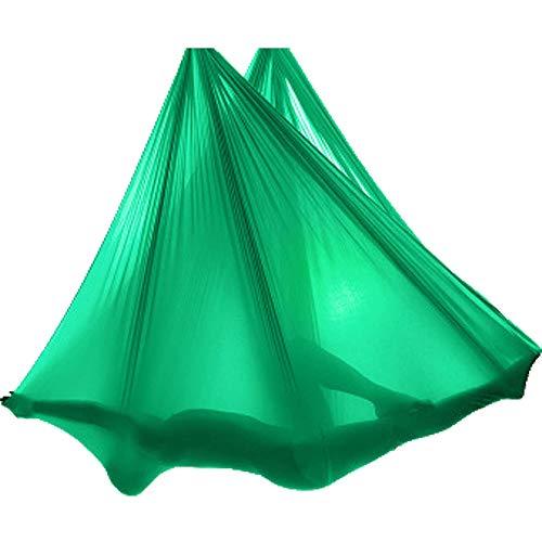 STARCLOCK High-Altitude Aerial Yoga Hammock, Home Professional Yoga Hammock Indoor, Colorful Cloth Sling To Perforate Yoga Studio, 5M Full Set of Accessories,Green,5m