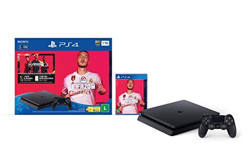 Console PlayStation 4 1TB Bundle Fifa 20, Preto - PlayStation 4 (Versão Nacional)