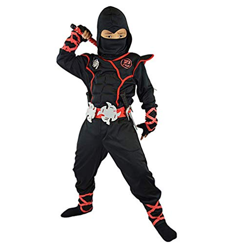 Ninja Turtle Kostüm Kinder Deluxe Kostüm Ninja Warrior Kostüm Ninja Outfit Halloween Cosplay Kleidung Kinderkostüm Kinder Ninja Kostüm