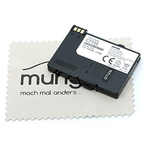 Ersatz Akku passend für Siemens C55, S55, A51, A52, A55, A57, SL55, Sinus 701, Gigaset SL37H (entspricht Originalakku EBA-510) OTB V30145-K1310-X250 OTB mit mungoo Bildschirmputztuch