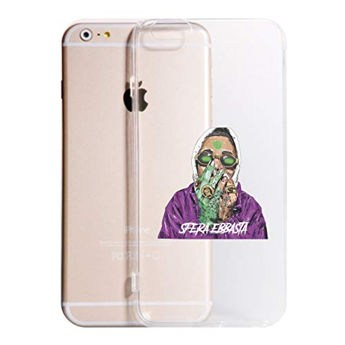 Social Crazy Cover iPhone XS - XR - XS Max -X-8-8PLUS 6-6 Plus - 6S - 6S Plus - 7-7 Plus - Sfera EBBASTA Trasparente Vari Colori UltraSottili AntiGraffio Antiurto Case Custodia