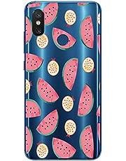 Oihxse Case Transparente Suave TPU Compatible con Xiaomi Mi 9 SE Funda [Lindo Caricatura Flor Serie Dibujos] Cristal Protector Carcasa Anti Rasguños Bumper Cover-Sandía