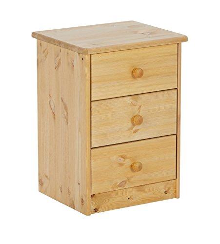 Steens 17800330 Mario - Comodino in legno di pino, 57 x 42 x 35 cm