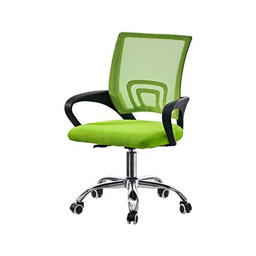 OFCASA Silla de escritorio de ordenador con brazos ajustable silla de oficina giratoria de malla silla de trabajo ejecutiva sobre ruedas para escritorio, hogar, oficina, verde