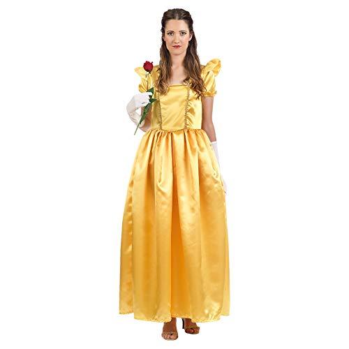 Die Schöne und das Biest Belle Damen Kostüm Kleid für Disney Fans gelb - L