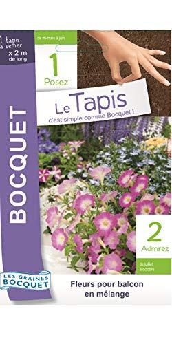 Les Graines Bocquet- Tapis de Graines de Fleurs pour Balcon en mélange- Graines potagères à semer