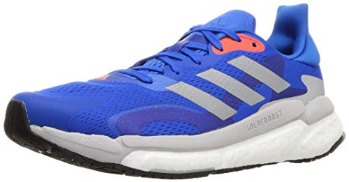 adidas Boost 21 M, Zapatillas para Correr Hombre, Football Blue Silver Met Solar Red, 43 1/3 EU