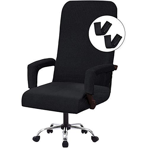 GOICC Bezug für Bürostuhl Bürostuhl-Bezug Abnehmbare Elastische Universal Stretch Stuhlhussen Stuhlbezug Computer Stuhl Schreibtischstuhl Drehstuhl Office Chair Abdeckungen,XL