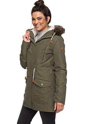 Roxy Damen 3N1 JK Amy-Waterproof Parka Jacket, grün (beetle), M