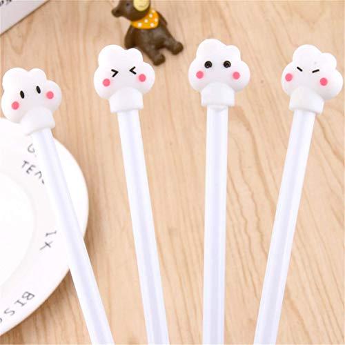 Corea del Sur nubes blancas tipo Gel Pen Bolígrafo Kawaii Papelería Zakka Material de oficina Escolar Útiles escolares (12)