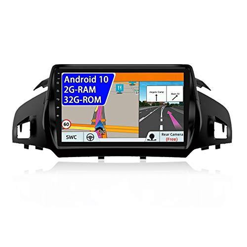 JOYX Android 10 Autoradio Per Ford Kuga (2013-2019) Con 2.5D - 9 Pollici - [2G+32G] - GPS 2 DIN - Telecamera Canbus Gratuiti - Supporto DAB 4G WLAN Bluetooth Carplay Volante Mirrorlink Android Auto
