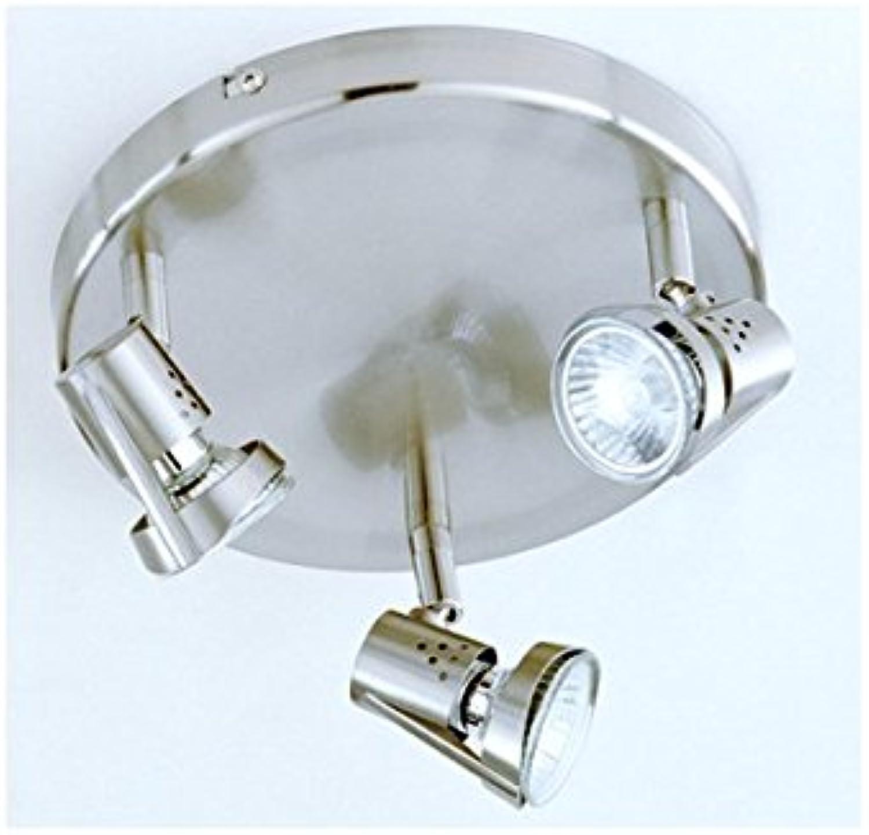 Meine–Plafon 3L. GU1050W Lampe (12x 21) Nickel