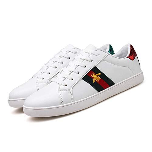 RFF Fashion men's shoes Unisex-Erwachsene Biene Herren Skateboardschuhe Herren Damen,Rot grün_39