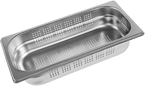 Miele DGGL5 Backofen- und Herdzubehör / 2,5 Liter / edelstahl / Gelochte Garbehälter für Dampfgarer