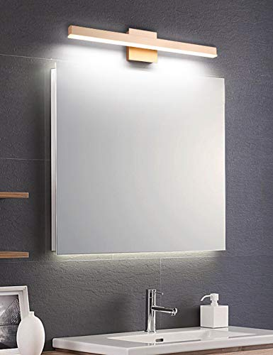 Joossnwell Bathroom Vanity Light Fixtures Dimmable, 24 Inch Gold LED Vanity Bar Lights Modern Wall Sconce Lamps Over Mirror 6000K Cold White 16W