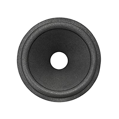"""uxcell 5"""" Paper Speaker Cone Subwoofer Cones Drum Paper 1"""" Voice Coil Diameter with Foam Surround Black 2 Pcs from uxcell"""