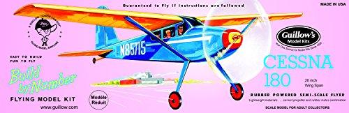 GUILLOW's Cessna 180 601 Powered Balsa Flying Model Kit