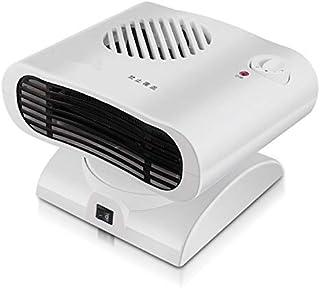 RUNNA Mini Sacudir la Cabeza del radiador del Calentador del Calentador eléctrico de Aire Caliente del soplador (Color : Blanco)