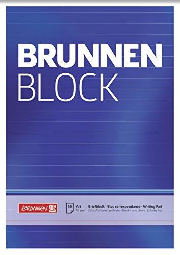 Brunnen 1052427 Briefblock / Schreibblock / Der Brunnen Block (A5, liniert, 50 Blatt, 70 g/m²)