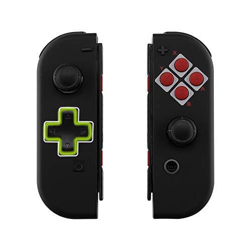 eXtremeRate Gehäuse für Nintendo Switch Joycon,Gehäuse Case Hülle Schale Ersatzteile für Nintendo Switch Joycon Controller&kompletter Satz Taste(D-Pad-Version)-Classics NES Style-Keine Console Hülle