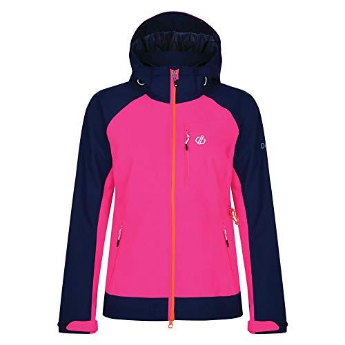 Dare 2b Damen Veritas Waterproof and Breathable Hooded Outdoor Hiking Jacke, Cyber Pink/Clearwater, 40