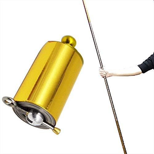 nvyue Magic Pocket Staff Magic Wand Magic Cane for Professional Magician Stage Portable, Pocket Arts Staff Magic Tricks Accessories (43.30'/110cm) (Gold-Silver)