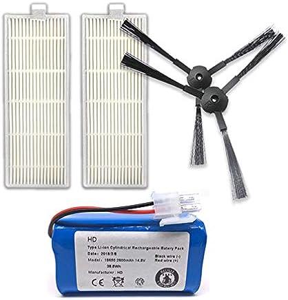 TOOGOO Kit de Filtro de reemplazo y Cepillo lal aplicable a aspiradora de Robot ILIFE A6 A4 A4s