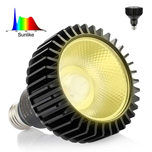 LED Grow Light Bulb MFXMF, Replace up to 100-200W, Daylight White Full Spectrum Plant Lights for Indoor Plants, Garden, Flowers, Vegetables, Greenhouse&Hydroponic Growing E27 Base with COB Grow Chips