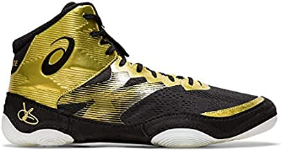 ASICS Men's JB Elite IV Wrestling Shoes, 10M, Rich Gold/Black
